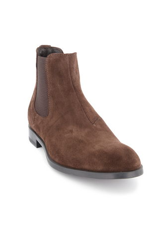 Front angled view image of Ermenegildo Zegna Siena Men's Suede Chelsea Boot