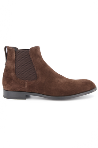 Side view image of Ermenegildo Zegna Siena Men's Suede Chelsea Boot