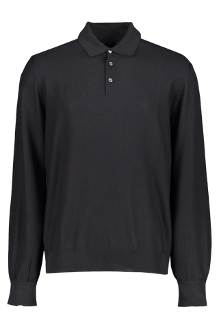 Silk Long Sleeve Navy