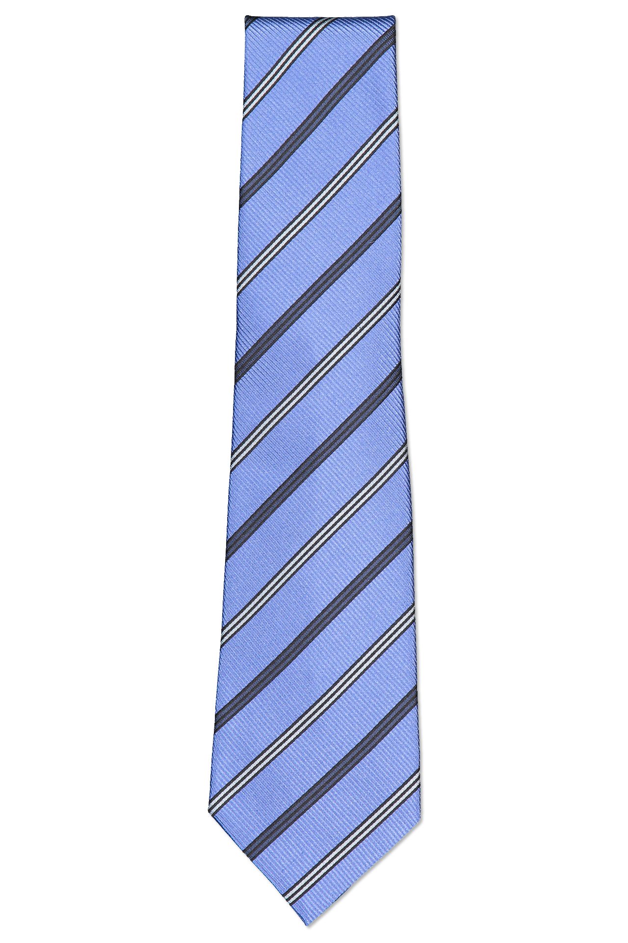 Front image of Ermenegildo Zegna Tie Bright Blue Stripes