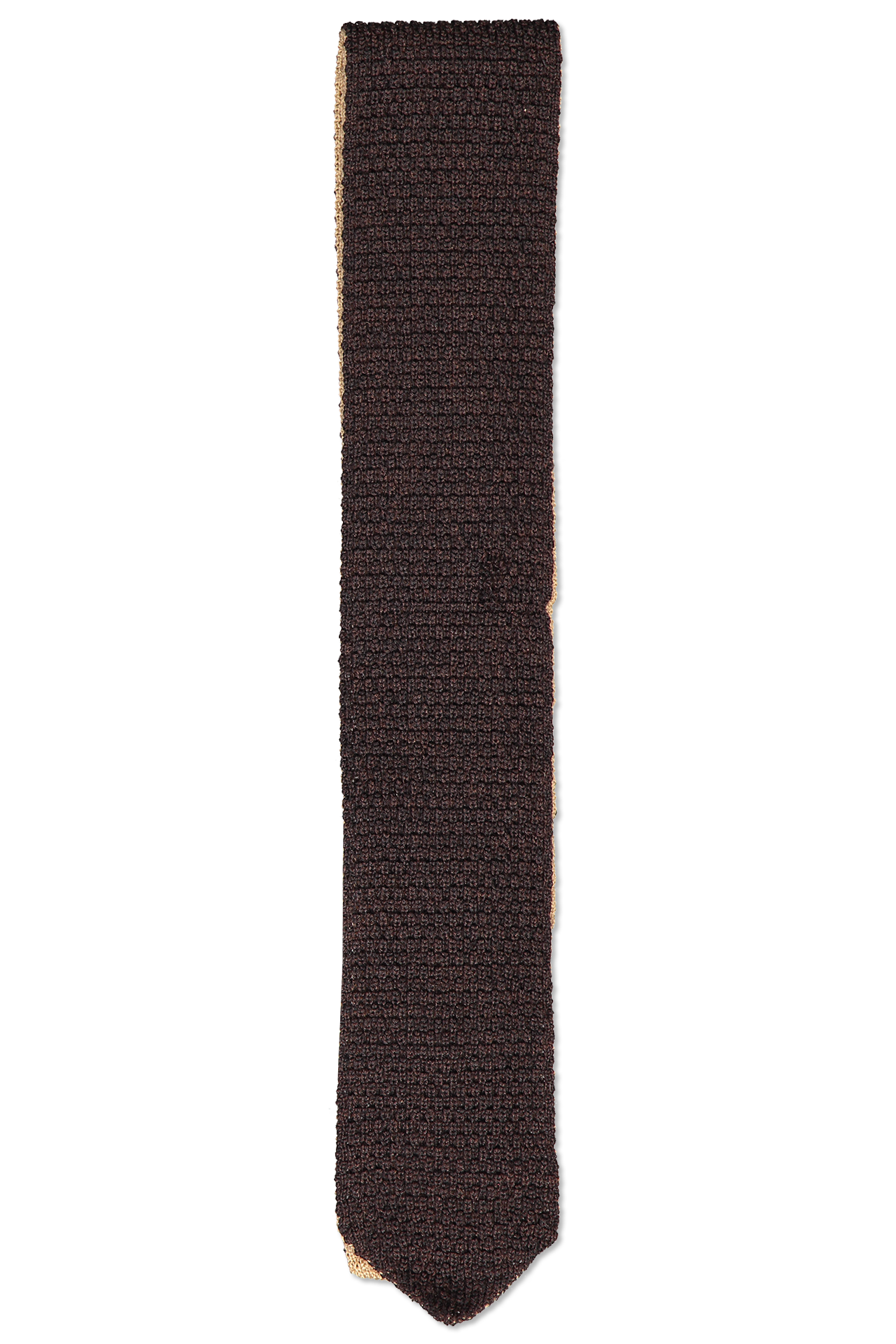 Front view image of Ermenegildo Zegna Men's Tie Brown Knit