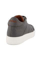 Back angled view image of Ermenegildo Zegna Tiziano Leather Hi Top Sneaker