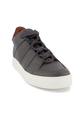 Front angled view image of Ermenegildo Zegna Tiziano Leather Hi Top Sneaker