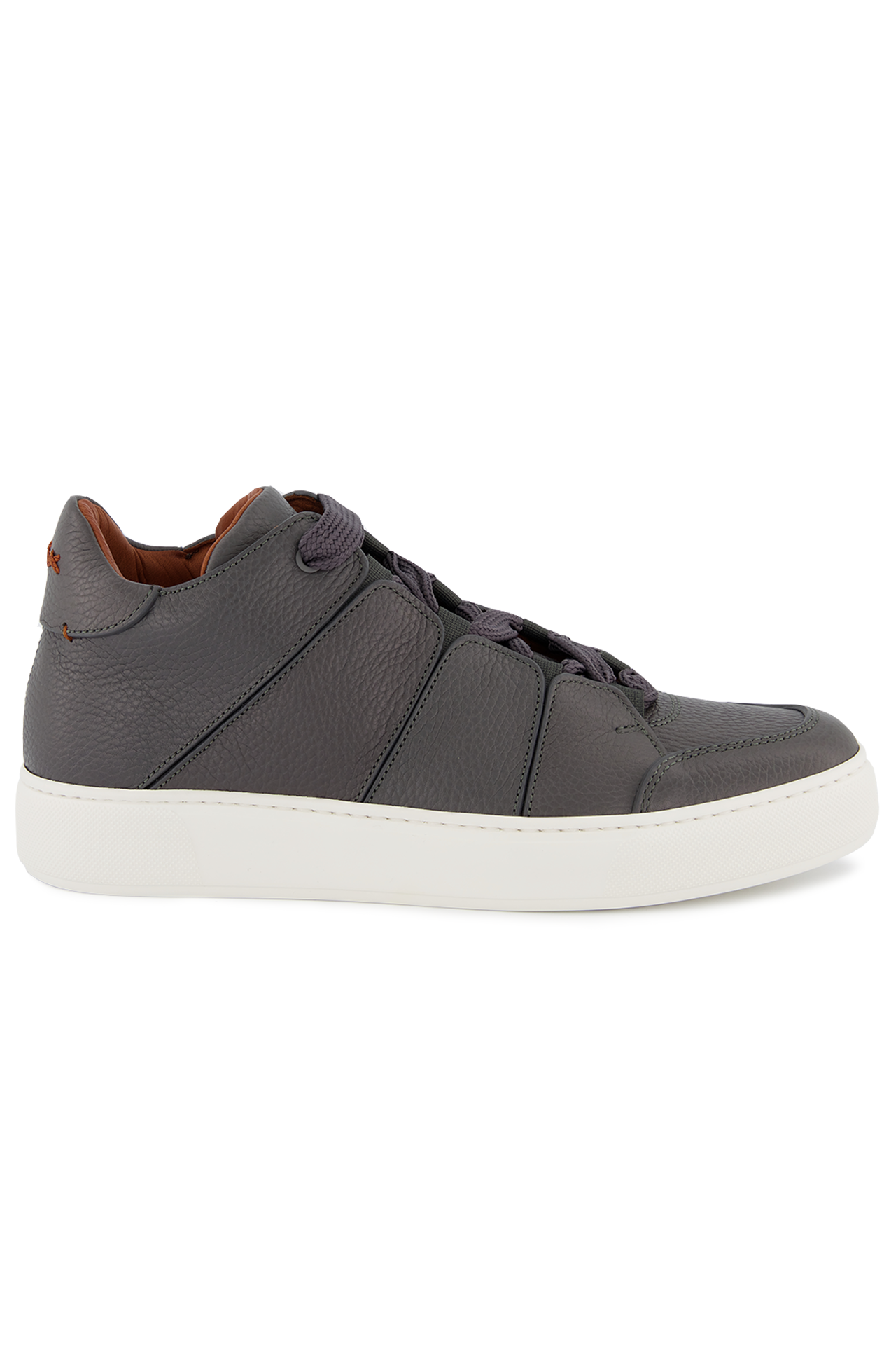 Side view image of Ermenegildo Zegna Tiziano Leather Hi Top Sneaker
