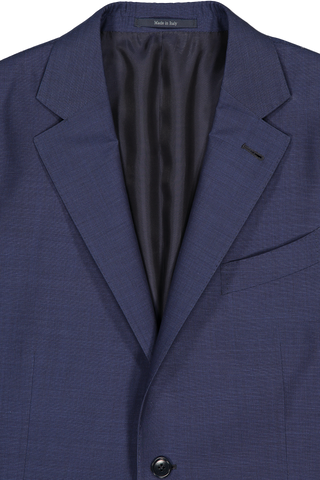 Lapel Detail Wool Silk Suit