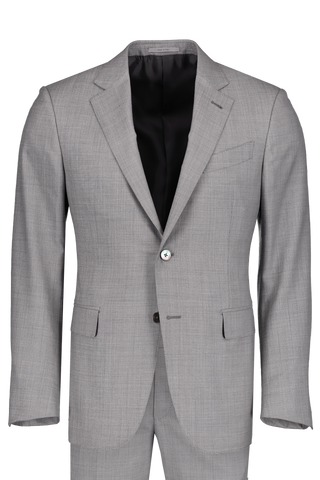 Front image of Ermenegildo Zegna Wool Suit Light Grey