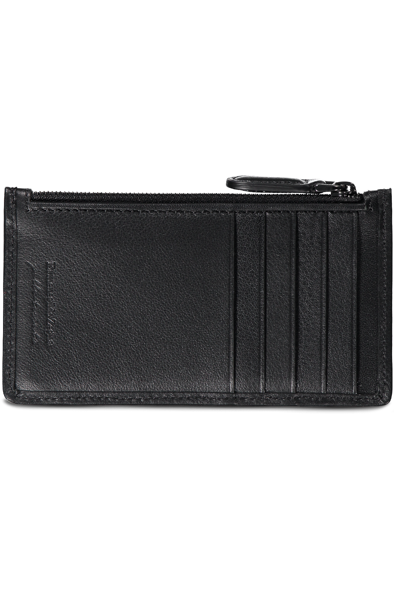Pelle Tessuta Zip Card Case