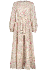 Front image of Zimmermann Honour High Neck Dress