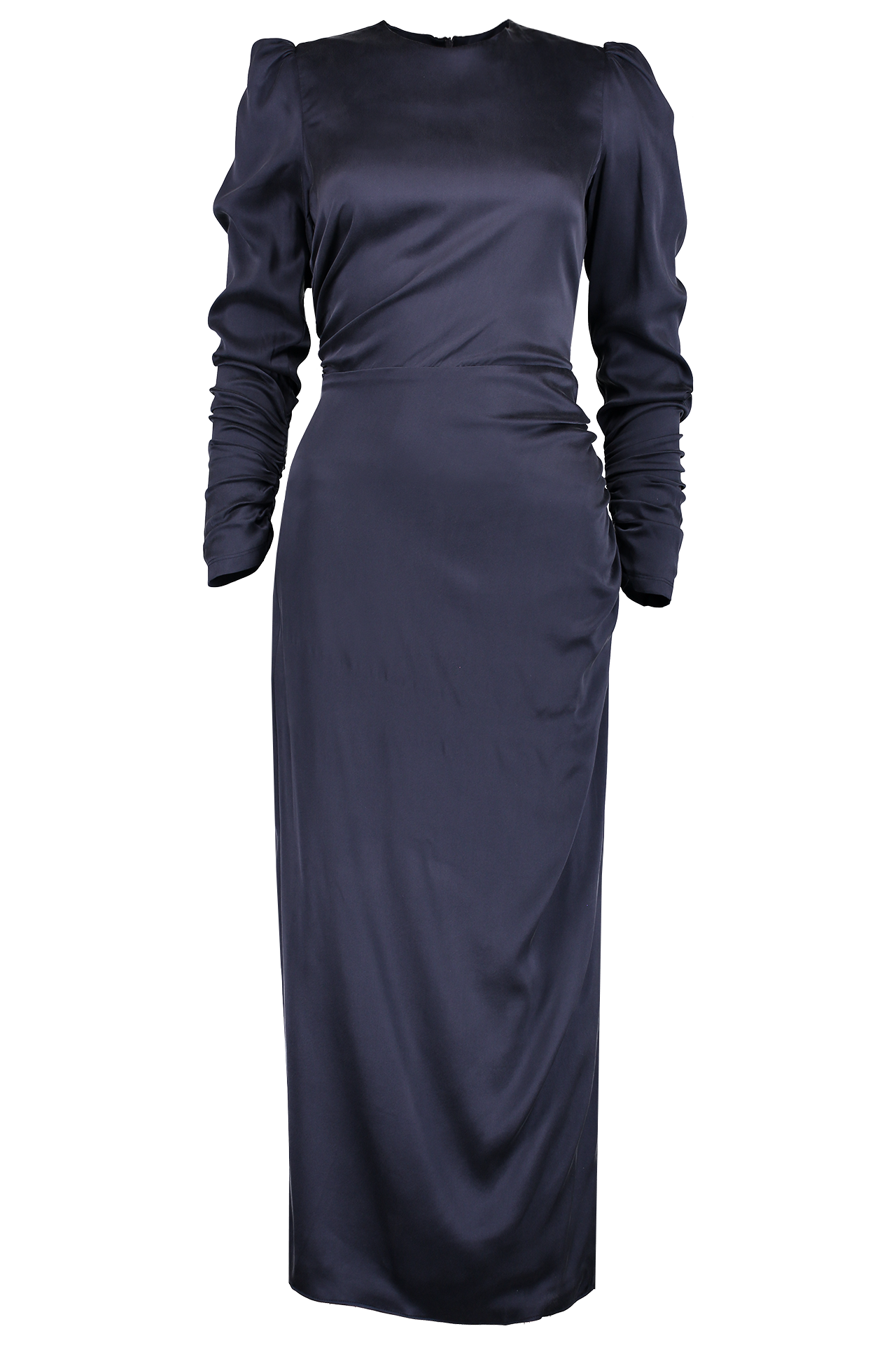 Front Image Ruched Drape Dress