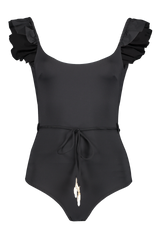 Front view image of Bonita Frill Shoulder One Piece Swimsuit