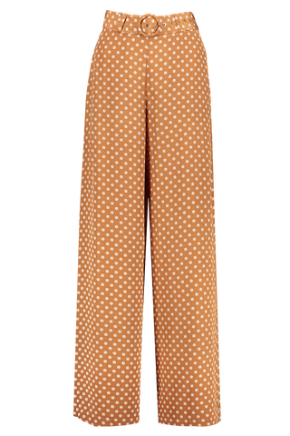 Front view image of Zimmermann Espionage Silk Belted Pant