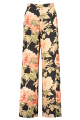 Front view image of Zimmermann Espionage Silk Wide Leg Pant