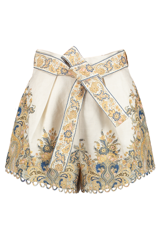 Front Image of Zimmermann Freja Paisley Short