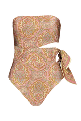 Front view image of Freja Scarf Tie One Piece Swimsuit