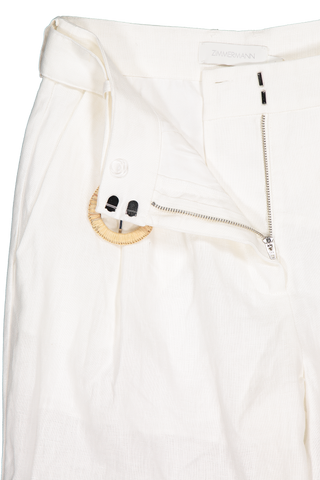 Clasp and zipper detail image of Zimmermann Honour Slouch Pant