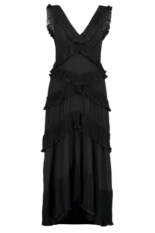 Front Image of Zimmermann Super Eight Frilled Midi Dress
