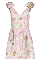 Front Image of Zimmermann Super Eight Ribbon Tie Dress