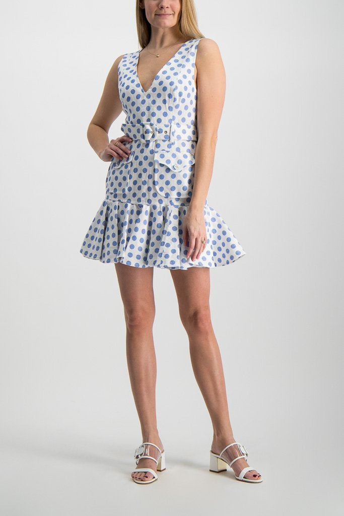 Full Body Image Of Model Wearing Zimmerman Super Eight Safari Mini Dress