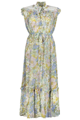 Front view image of Zimmermann Women's Super Eight Sleeveless Midi Dress
