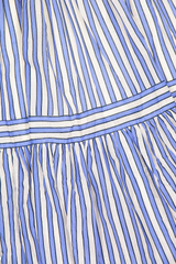 Tier and pattern detail image of Zimmermann Verity Stripe Tiered Tie Dress