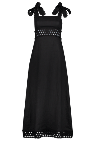 Front image of Zimmermann Verity Woven Picnic Dress