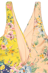 Back Detail Image of Zimmermann Zinnia Wrap One Piece Swimsuit