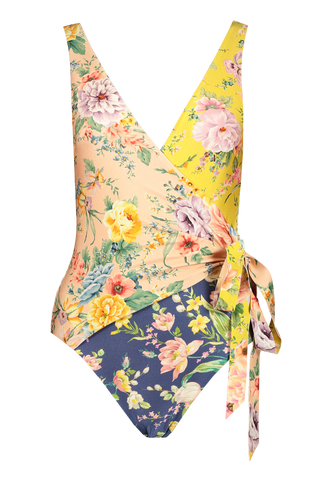 Front Image of Zimmermann Zinnia Wrap One Piece Swimsuit