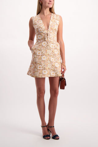 Full Body Image Of Zippy Lace Up Short Dress