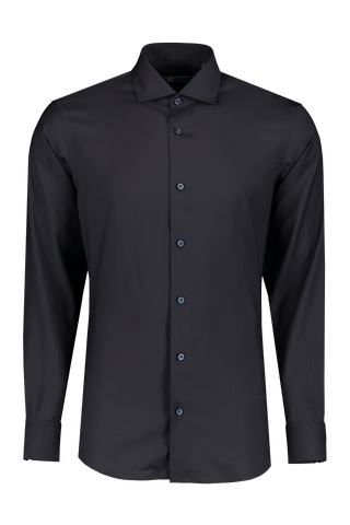 Front view image of Z Zegna Black Techmerino Shirt Black