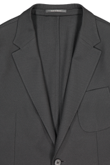 Front collar and lapel detail image of Z Zegna Men's Techmerino Wash & Go Blazer Black