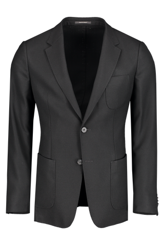 Front view image of Z Zegna Men's Techmerino Wash & Go Blazer Black
