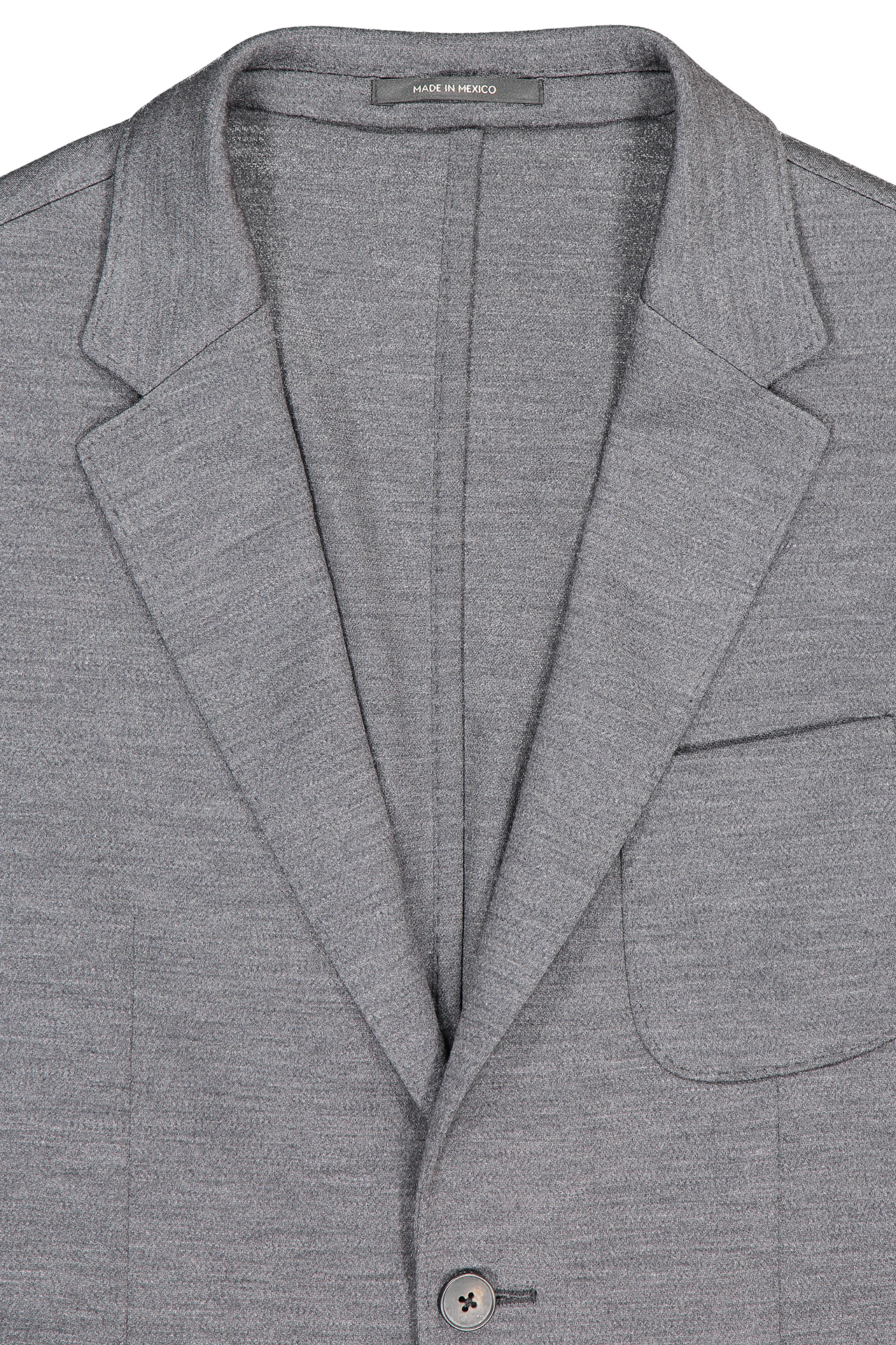 Front collar and lapel detail image of Z Zegna Men's Techmerino Wash & Go Blazer Grey
