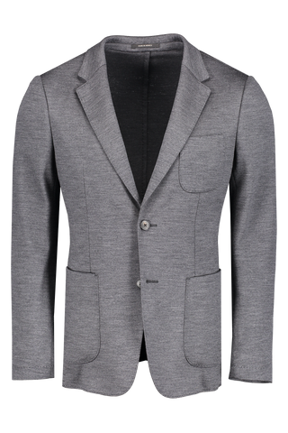 Front view image of Z Zegna Men's Techmerino Wash & Go Blazer Grey