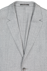 Front collar and lapel detail image of Z Zegna Men's Techmerino Wash & Go Suit Grey