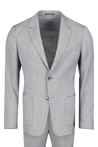 Front view image of Z Zegna Men's Techmerino Wash & Go Suit Grey