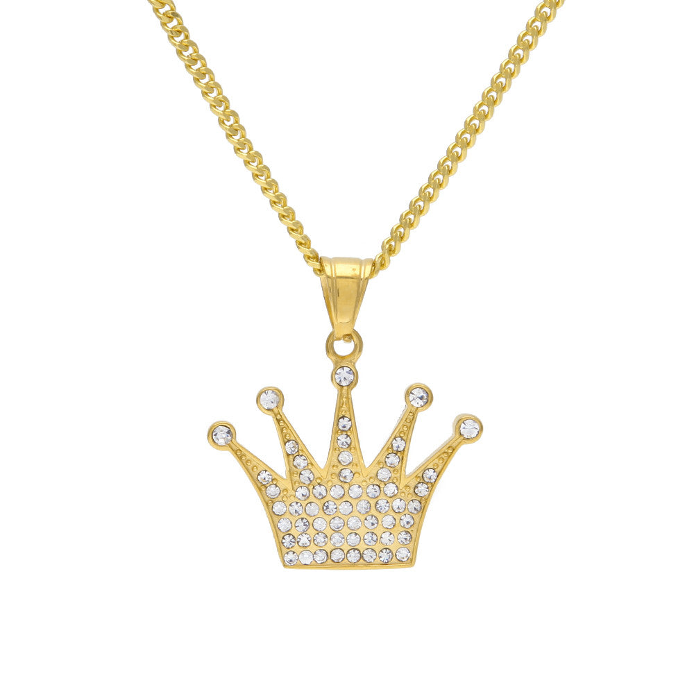 gemstone with diamonds pendant necklaces gold crown sapphire necklace