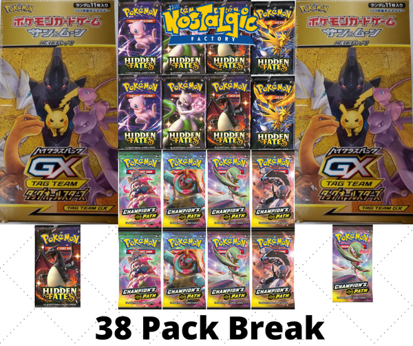 10/30 Friday Break #2 Hidden Fates/Champions Path All-Stars (38 Pack Break)