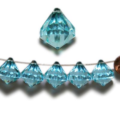 20mm Crystal Garland Acrylic Raindrops Party Decoration - Turquoise - 24 PCS