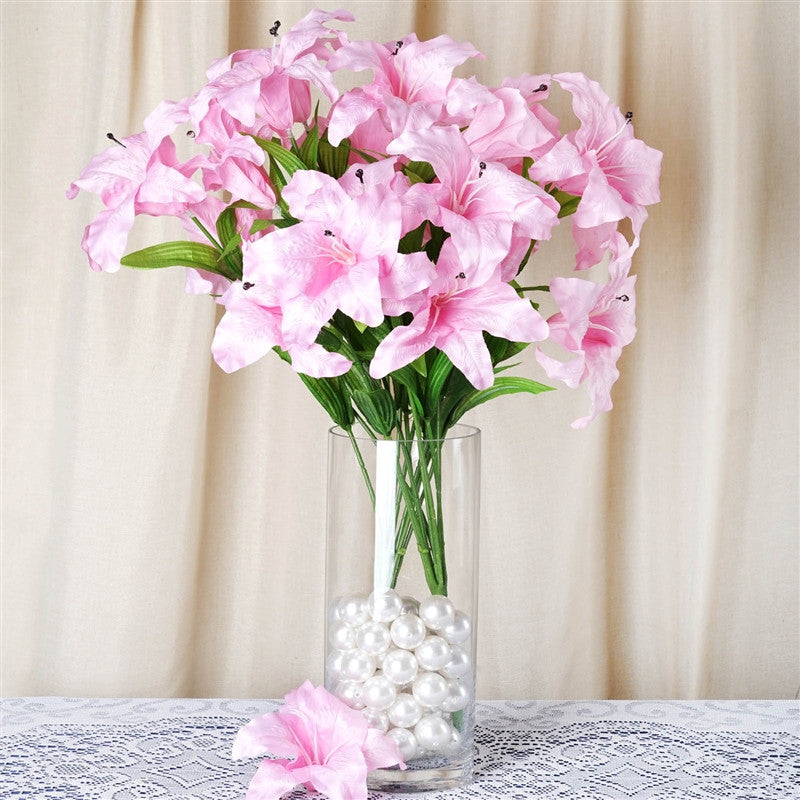 54 SUPERSIZED Casa Blanca Lilies Pink