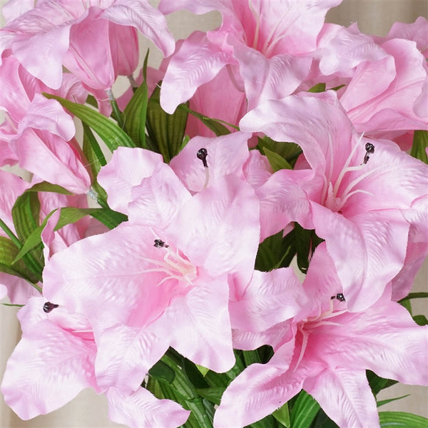 Casa Blanca Lily Artificial Silk Flowers - Pink