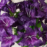54 Supersized Artificial Casa Blanca Lily Flowers Wedding Bouquet Vase Centerpiece Decor – Purple
