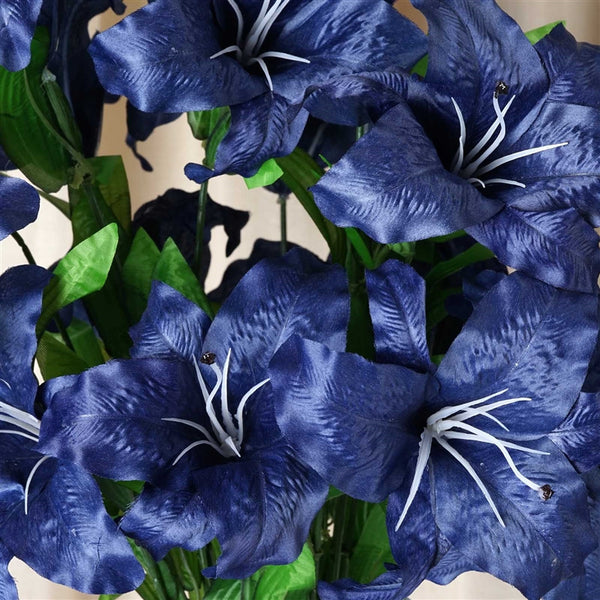 Casa Blanca Lily Artificial Silk Flowers - Royal Blue