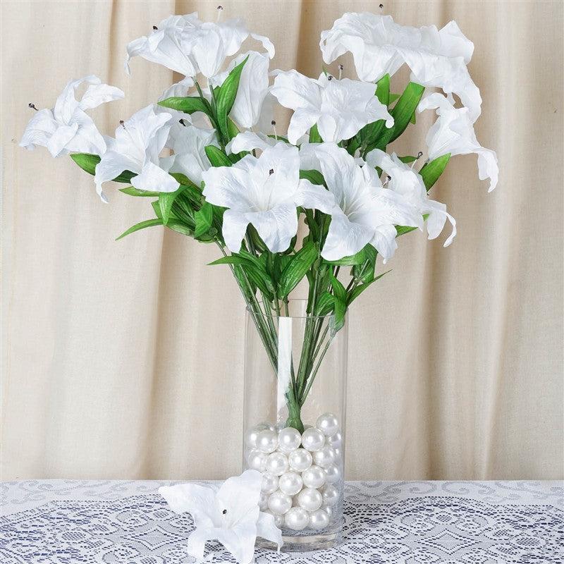 54 Supersized Artificial Casa Blanca Lily Flowers Wedding Bouquet ...