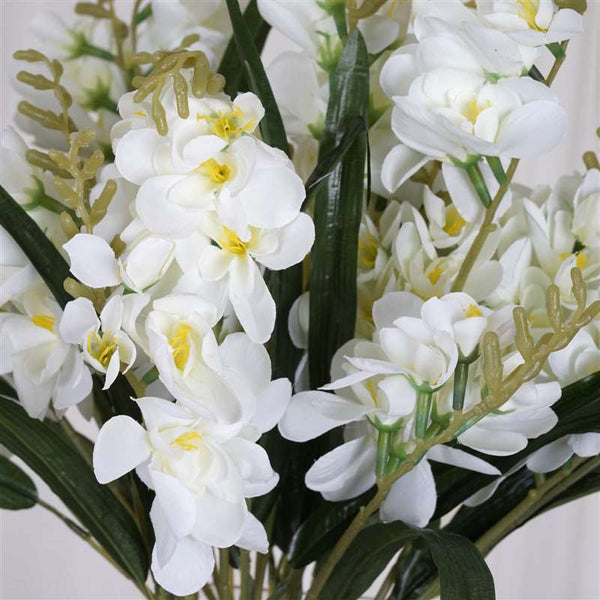 54 Artificial Freesia Flower Bushes Wedding Vase Centerpiece Decor  - Cream