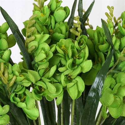 54 Artificial Freesia Flower Bushes Wedding Vase Centerpiece Decor - Lime