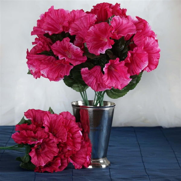 168 Splashy Petunia Flowers - Fushia