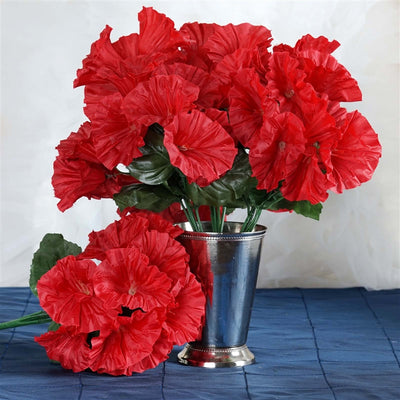 168 Splashy Petunia Flowers - Red