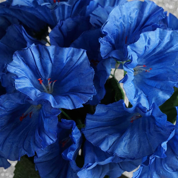 168 Artificial Royal Blue Petunia Flowers Wedding Bridal Bouquet Centerpiece Decoration