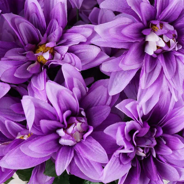 Dahlia Bush Artificial Silk Flowers - Lavender