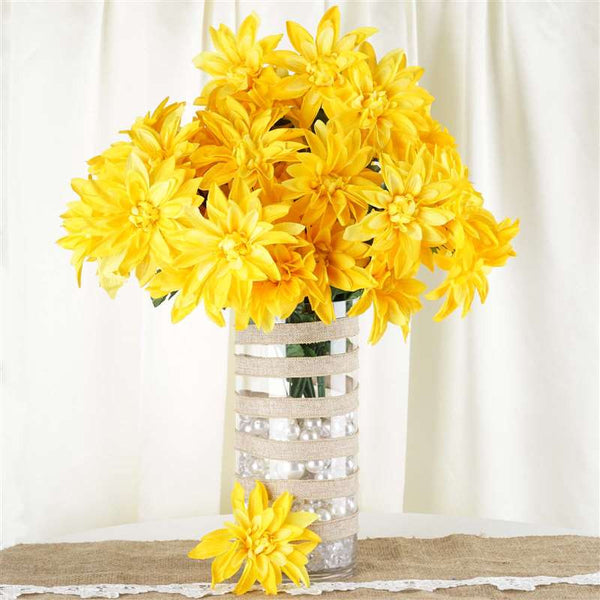 56 Dahlia Bushes - Yellow